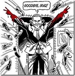 Bush zapateado en Irak