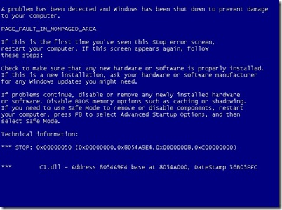 Vista BSOD Crash