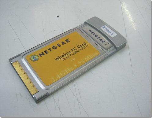 แจกไดรเวอร์ Wireless Card PCMCIA ยี้ห้อ Netwear รุ่น WG511