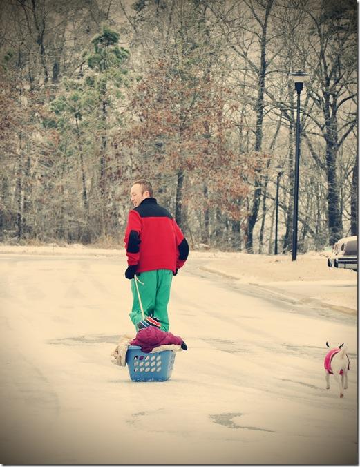 Jonathan sledding