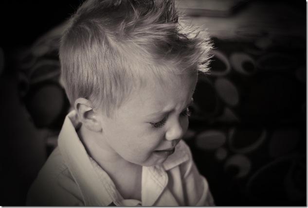Isaac crying