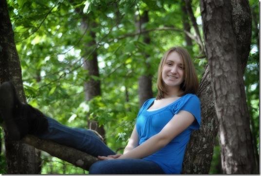 Rachel in tree 2