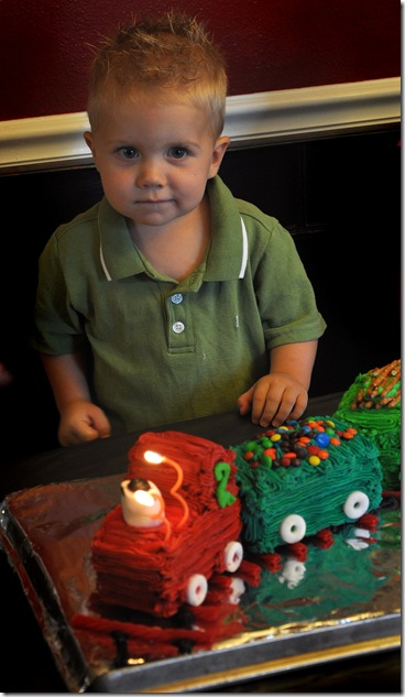 isaac with cake
