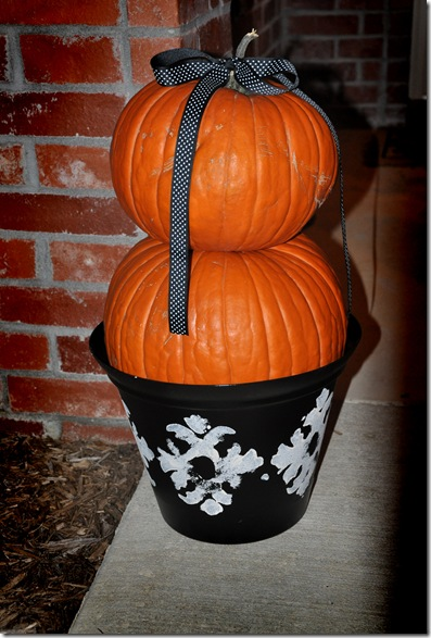 Pumpkins in pot
