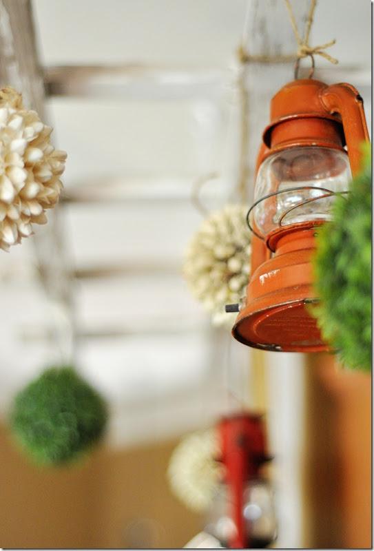 Trellis Orange Lantern