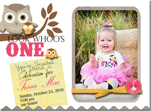 One year old invite copy