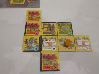 My small palace complex during the game of Alhambra