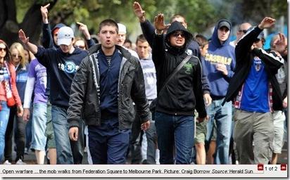 18 1 2010 Croatian mob mars first day of Australian Open tennis 3