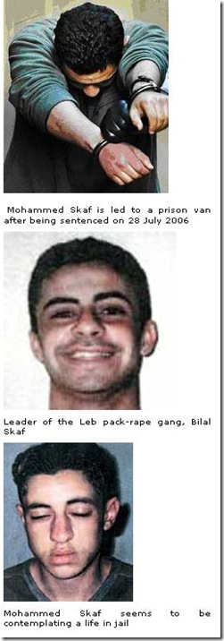 17 6 2010 Lebanese Muslim gang leader sentenced to 38 years jail for racially motivated pack-rapes of Australian girls