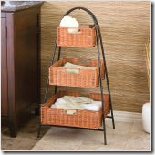 csn3-Tier Rattan Basket Storage Shelf
