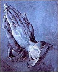 Albrecht Durer's Praying Hands rezar