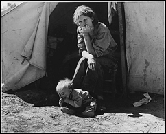 18-Year Old Mother from Oklahoma During the Great Depression