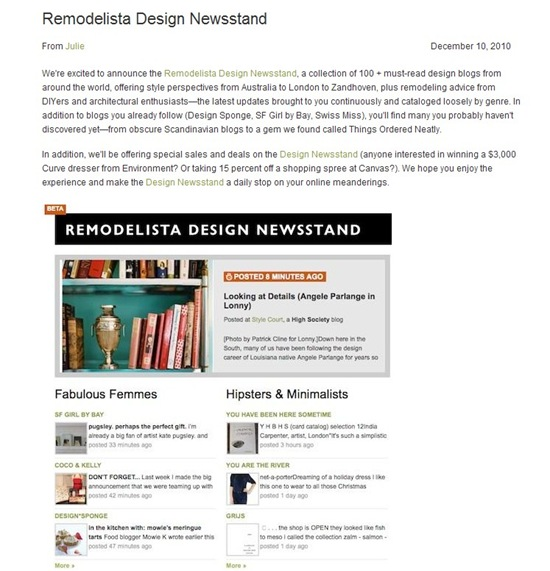 Remodelista post