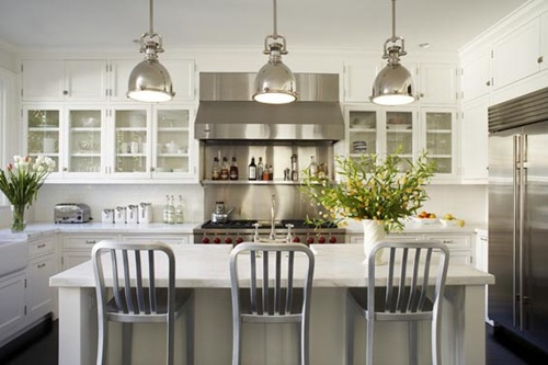 The awesome Alluring light fixtures for kitchen island image