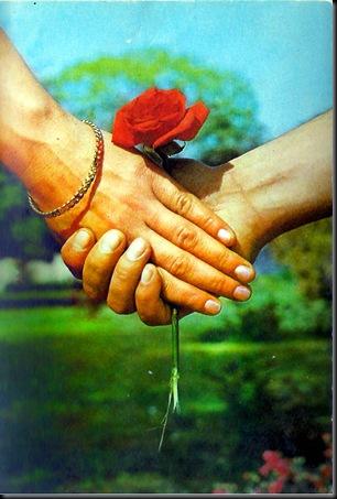 strange hands postcard