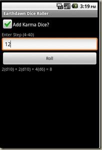 EDDR - 3E Roll with Karma