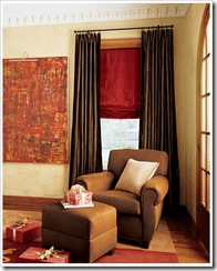 drape with roman shade