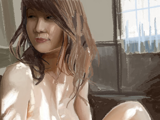 asian, asian model, photoshop rendering, 2d artist