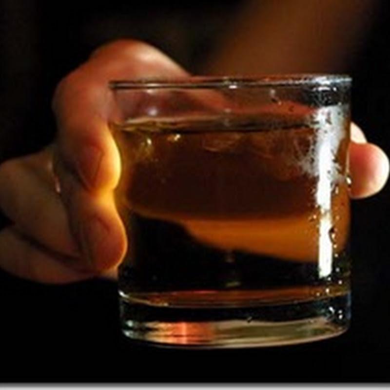 Lágrimas en un vaso de whisky.