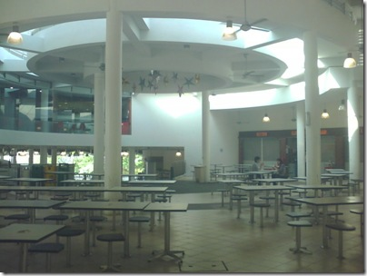 The canteen area
