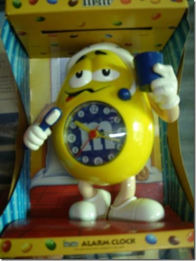 M&M's Mr. Yellow clock