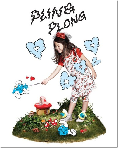 Girl Smurf Pattern Dress - HKD 179 & Leggings HKD 129-139