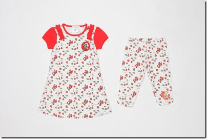 Girl Smurf Pattern Dress - HKD 179 & Baby Girl Leggings HKD 129-139