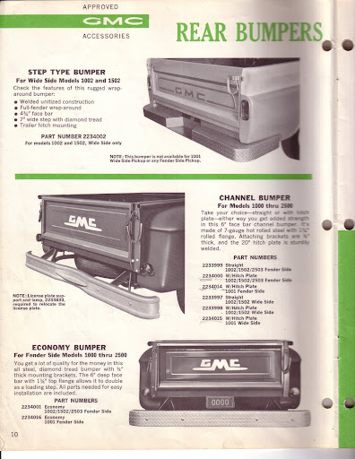 Description et spécifications Chevrolet GMC 1960-1966 Image0-6