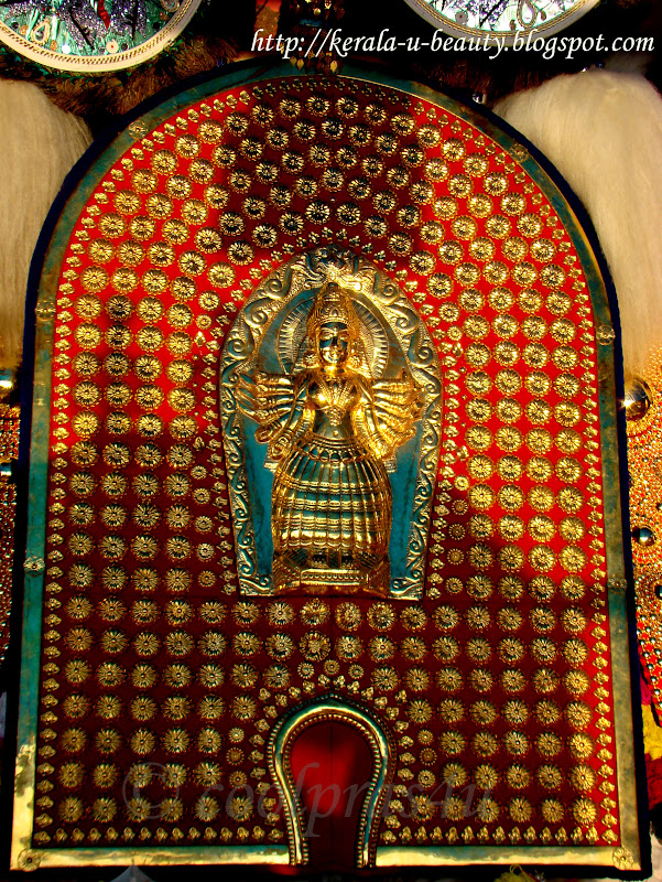 Deity Bhagavati Devi that is carried during Thalappoli Pooram festival