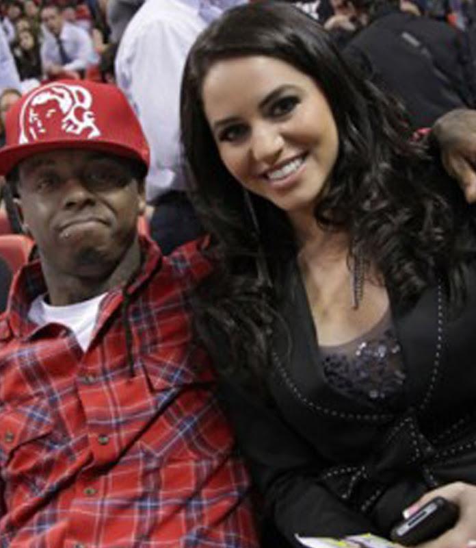 Lil Wayne no jogo do Miami Heat vs. Indiana Pacers em Maimi