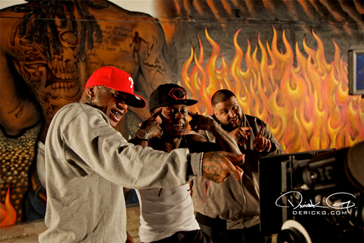 Foto do Lil Wayne, Dj Khaled & Birdman no clipe Welcome to my Hood