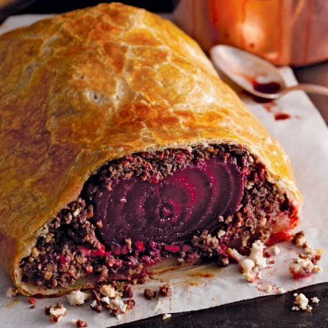 Beet Wellington With Pinot Noir Sauce