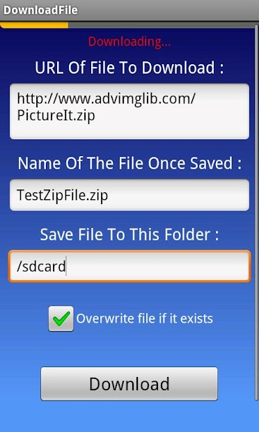wnloadfile - How to download a file from a URL in