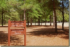 horse center sign