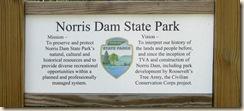 Norris Dam SP Sign