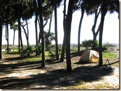 Tent Site on Ocean