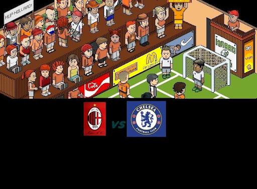 "A.C Milán VS Chelsea F.C ""Amistoso Habbo_futbol_screen"