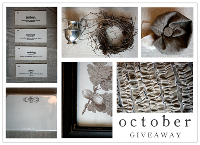 October giveaway
