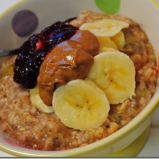 Almond Butter & Jelly Oatmeal