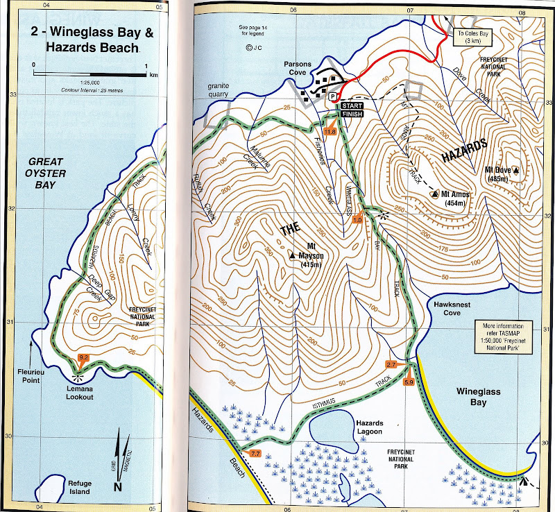 Мы идем по Wineglass Bay and
