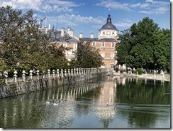 Palacio de Aranjuez desde el Puente de Barcas.