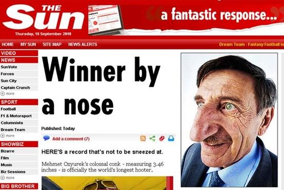 Maior nariz do mundo Narigudo