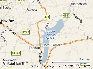 Těrlická přehrada leží v blízkosti města Havířov