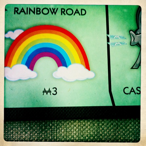 March - a rainbow