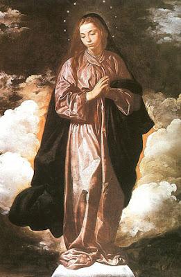Diego Velázquez (español, 1599-1660), Inmaculada, Nacional Gallery, Londres