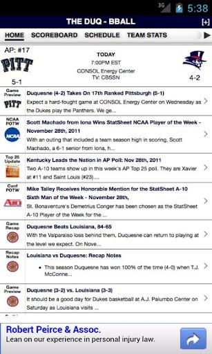 Duquesne Football Basketball