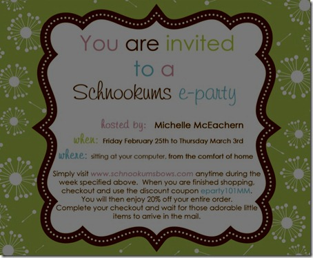 eparty invite Michelle McEachern