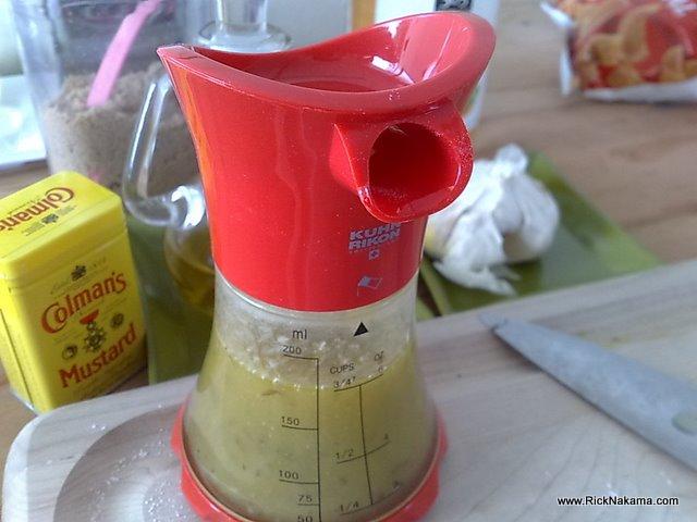 www.RickNakama.com Kuhn Rikon Vase Wisk Salad Dressing Recipe