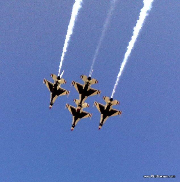 www.RickNakama.com Thunderbirds Air Show at Hickam Air Force Honolulu