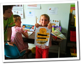 Sam's schoolwork - a bee